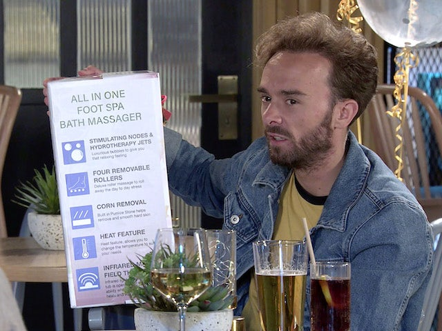 David on the first episode of Coronation Street on September 29, 2021