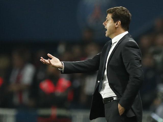 Paris Saint-Germain (PSG) coach Mauricio Pochettino reacts on September 19, 2021