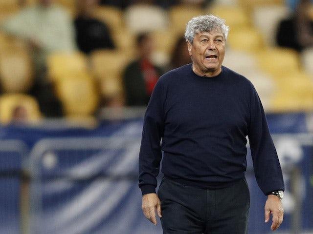 Dynamo Kiev coach Mircea Lucescu on September 14, 2021