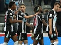Newcastle United's Allan Saint-Maximin celebrates scoring their first goal against Leeds United in the Premier League on September 17, 2021