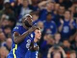 Chelsea's Romelu Lukaku celebrates scoring their first goal on September 14, 2021