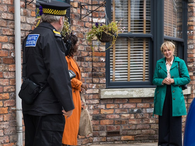 Sally on the second episode of Coronation Street on October 1, 2021