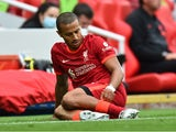 Thiago Alcantara goes down injured for Liverpool in September 2021