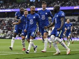 Chelsea's Thiago Silva celebrates scoring against Tottenham Hotspur on September 19, 2021
