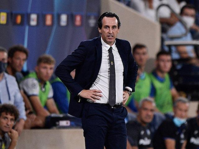 Villarreal coach Unai Emery looks on on September 14, 2021