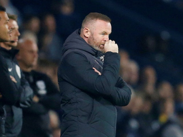 Derby County manager Wayne Rooney on September 14, 2021
