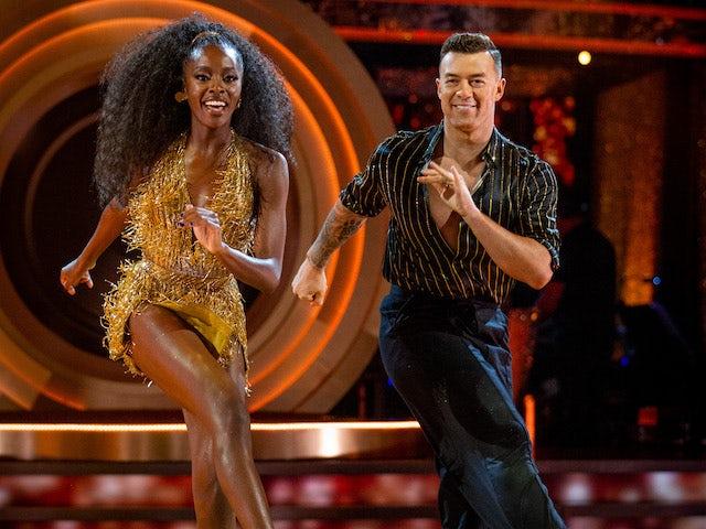 Strictly Come Dancing: AJ Odudu tops week one leaderboard