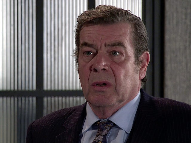 Johnny on the first episode of Coronation Street on October 13, 2021
