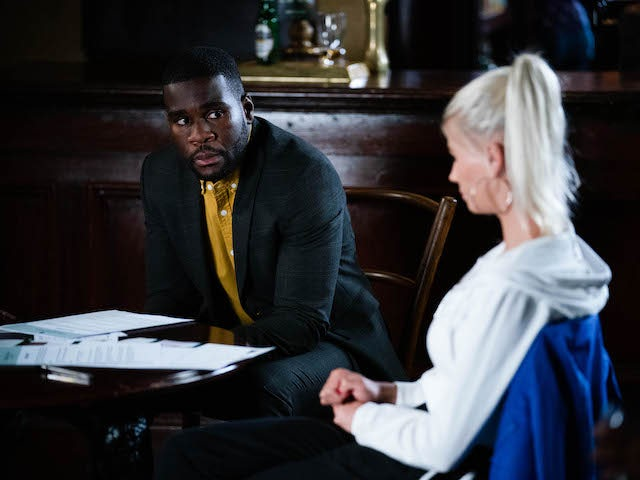 Isaac and Lola on EastEnders on September 28, 2021