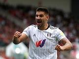 Aleksandar Mitrovic celebrates scoring for Fulham against Bristol City on September 25, 2021