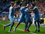 Coventry City's Gustavo Hamer celebrates scoring their first goal against Peterborough in the Championship on September 24, 2021