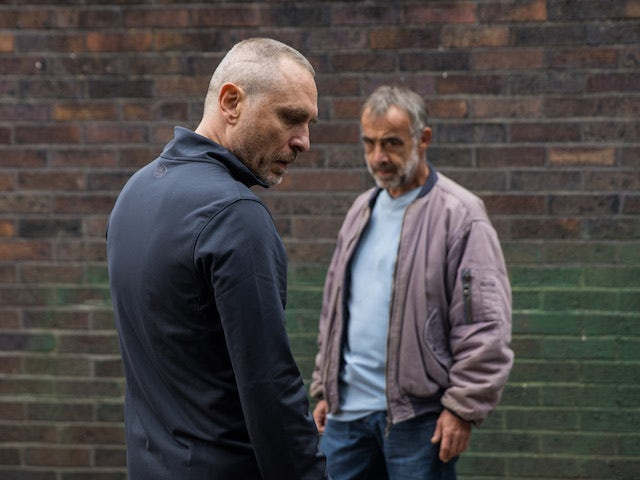 Tez and Kevin on the first episode of Coronation Street on October 8, 2021