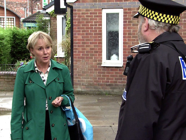 Sally on the first episode of Coronation Street on October 4, 2021
