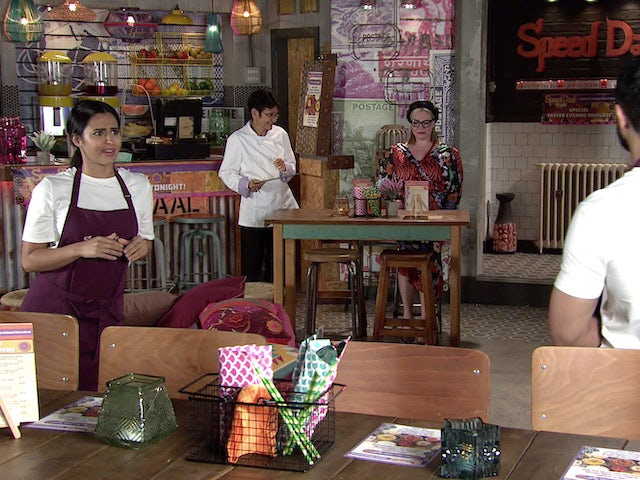 Alya and Yasmeen on the second episode of Coronation Street on October 6, 2021