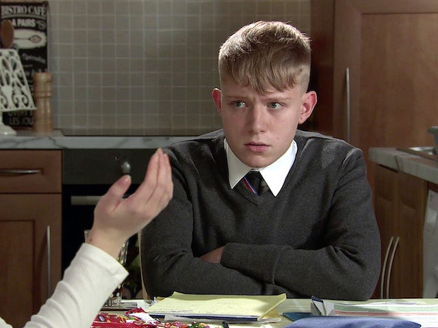 Max on the second episode of Coronation Street on October 8, 2021