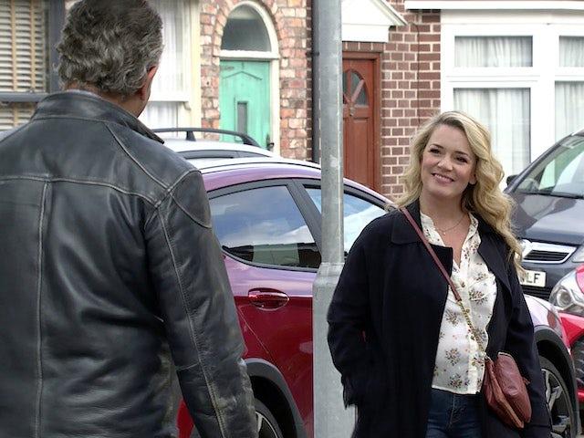 Natasha on the first episode of Coronation Street on October 11, 2021