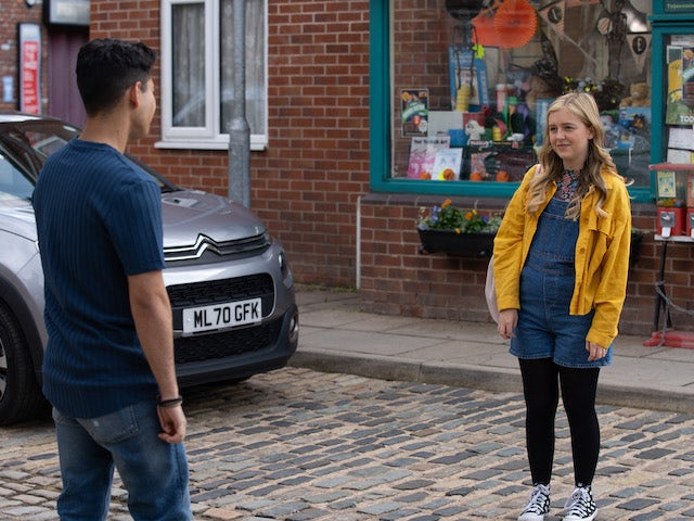 Summer on the second episode of Coronation Street on October 4, 2021