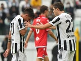 Juventus' Paulo Dybala leaves the field in tears after picking up an injury against Sampdoria in Serie A on September 26, 2021