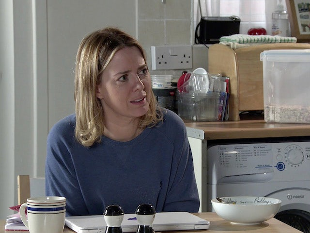 Abi on the first episode of Coronation Street on October 13, 2021