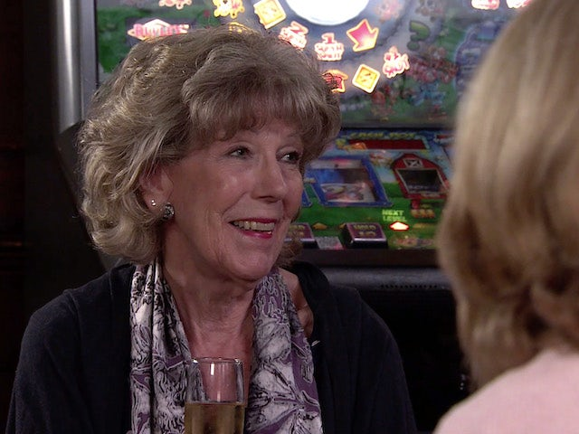 Audrey on the first episode of Coronation Street on October 13, 2021