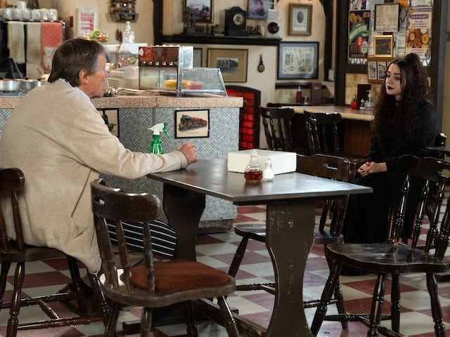 Roy and Nina on the first episode of Coronation Street on October 6, 2021