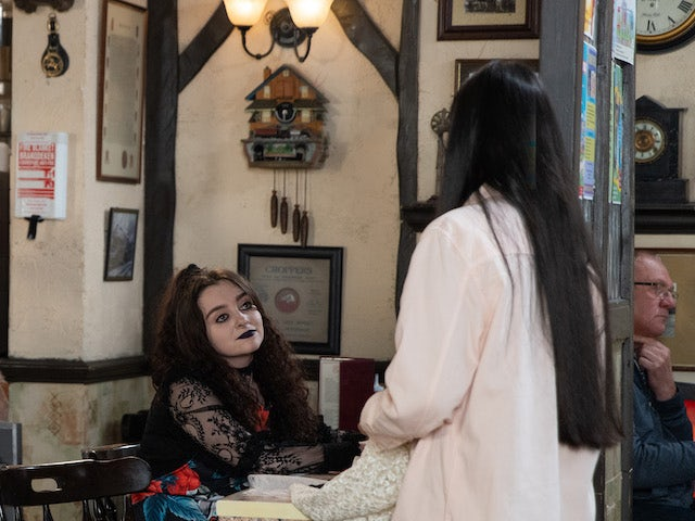 Nina on the first episode of Coronation Street on October 8, 2021