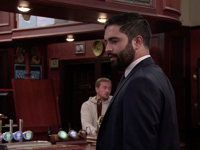 Imran on the second episode of Coronation Street on October 11, 2021