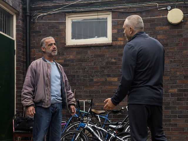 Kevin on the first episode of Coronation Street on October 8, 2021