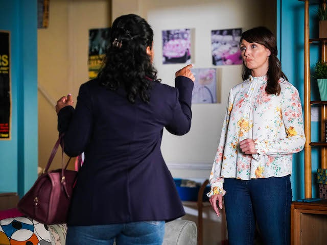 Suki and Honey on EastEnders on October 5, 2021