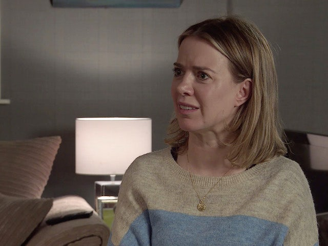 Abi on the second episode of Coronation Street on October 11, 2021