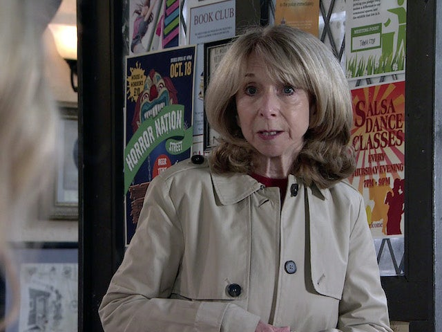 Gail on the first episode of Coronation Street on October 13, 2021