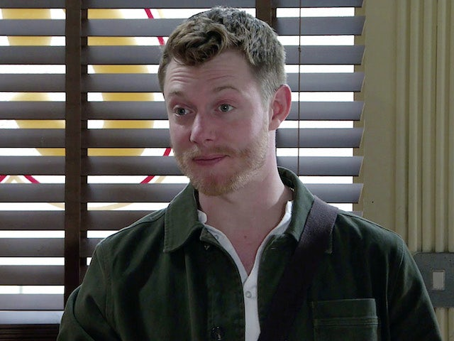 Daniel on the first episode of Coronation Street on October 6, 2021