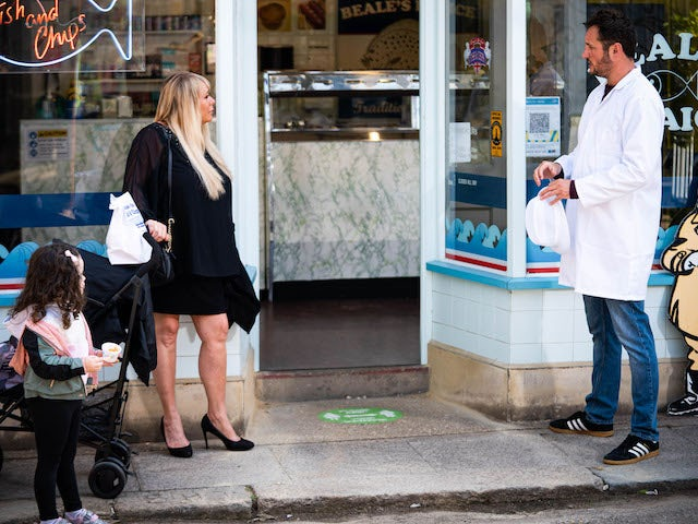 Sharon and Martin on EastEnders on October 4, 2021
