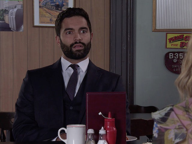 Imran on the first episode of Coronation Street on October 11, 2021
