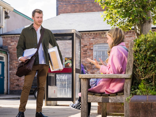 Summer and Daniel on the second episode of Coronation Street on October 6, 2021