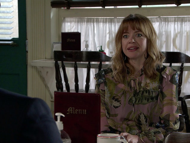 Toyah on the first episode of Coronation Street on October 11, 2021