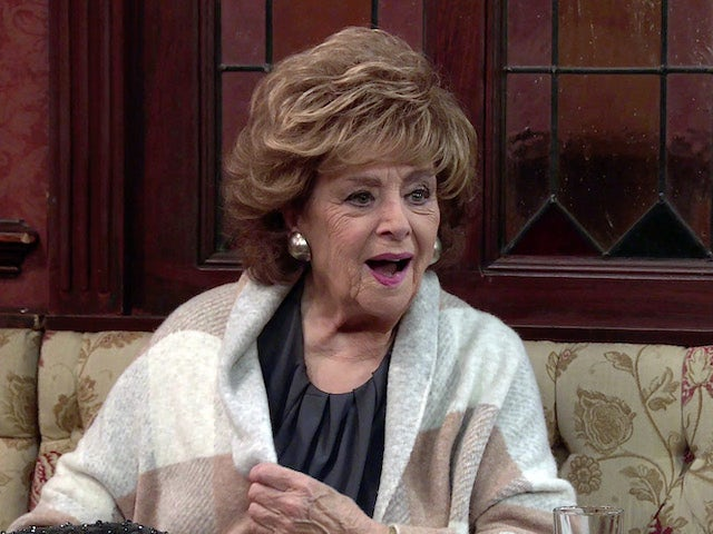 Rita on the second episode of Coronation Street on October 11, 2021