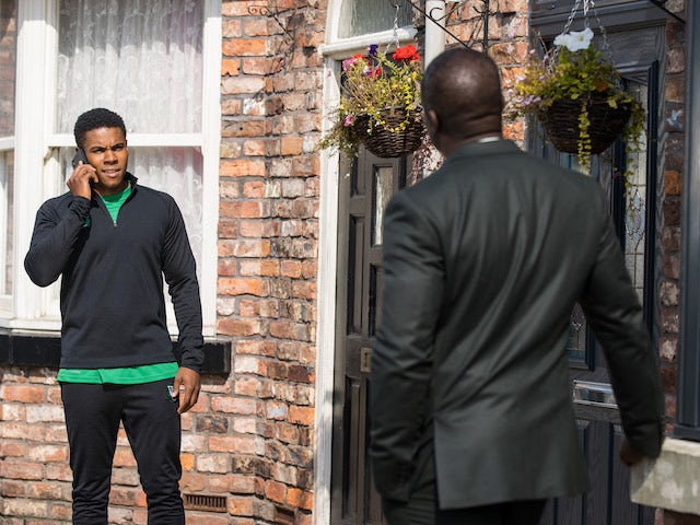 James on the first episode of Coronation Street on October 8, 2021