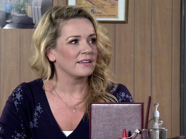 Natasha on the first episode of Coronation Street on October 13, 2021