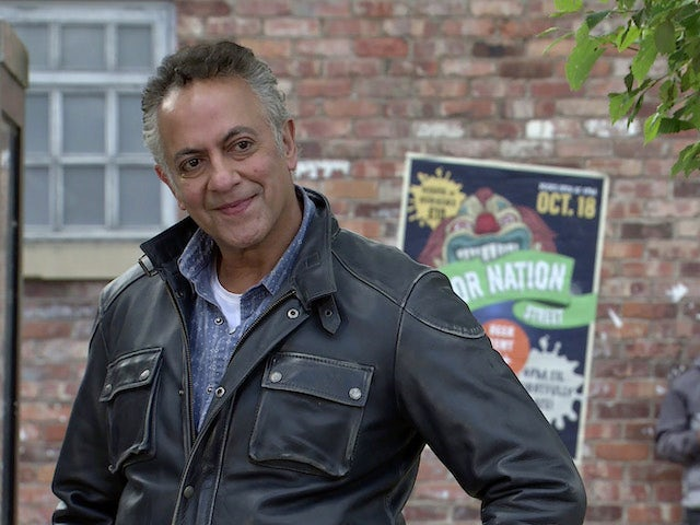 Dev on the first episode of Coronation Street on October 11, 2021