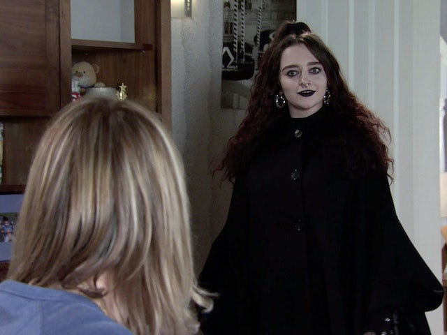 Nina on the first episode of Coronation Street on October 13, 2021