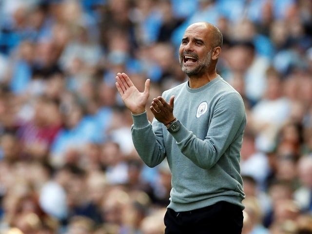 Manchester City manager Pep Guardiola pictured on September 18, 2021