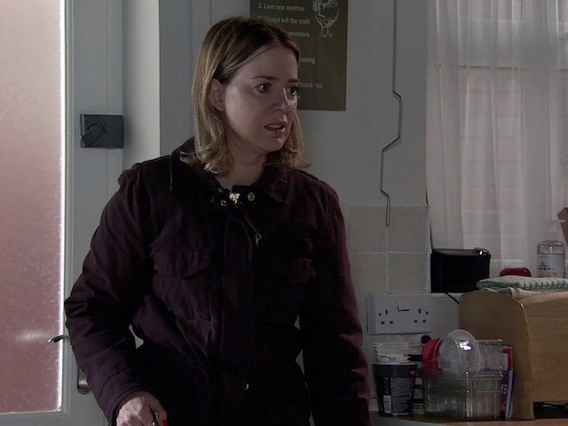 Abi on the first episode of Coronation Street on October 11, 2021