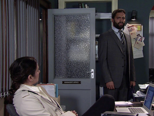 Imran on the first episode of Coronation Street on October 13, 2021