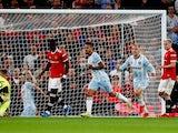 West Ham United's Manuel Lanzini celebrates scoring against Manchester United in the EFL Cup on September 22, 2021