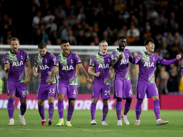 Result: Tottenham beat Wolves on penalties after blowing two-goal lead