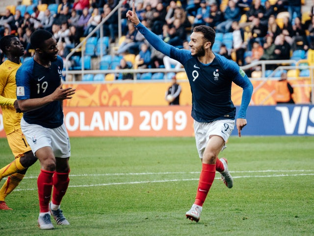 Amine Gouiri in action for France Under-20s in May 2019