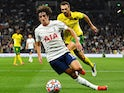 Tottenham Hotspur's Bryan Gil pictured in action in August 2021