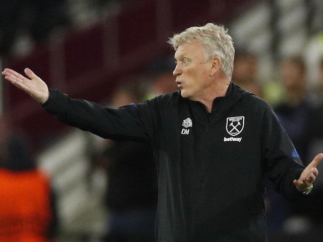 West Ham United manager David Moyes reacts on September 30, 2021