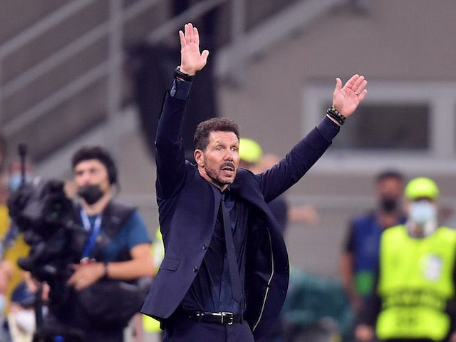 Atletico Madrid coach Diego Simeone on September 28, 2021